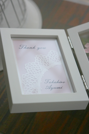 プリザーブドフラワー | フォトフレーム * ご両親への贈り物 *