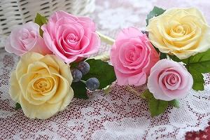 プリザーブドフラワー   贈呈花 * 籠のアレンジメント *