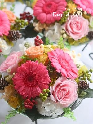 プリザーブドフラワー | 食事会用の会場装花