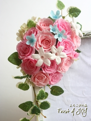 プリザーブドフラワー | ウェルカムボード * ミニバラの花飾り *