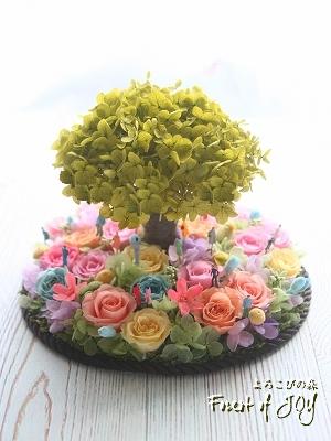 プリザーブドフラワー   オーダーメイド * お花畑の大きな木 *