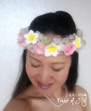 プリザーブドフラワー | 髪飾り * 海外挙式にプルメリアの花冠 *