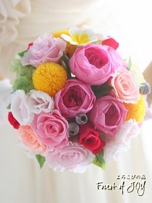 プリザーブドフラワー | シェアブーケ * 色とりどりの春のお花 *